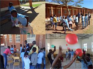 ルエナ(アンゴラ)子供たちといっしょのお祝い