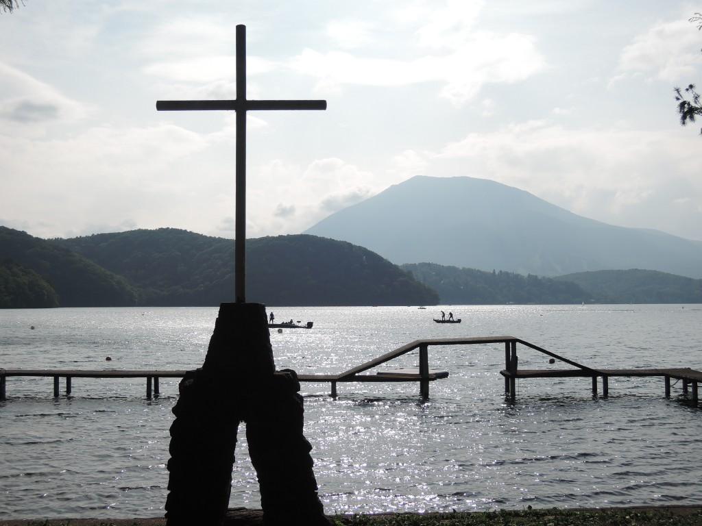 野尻湖湖畔